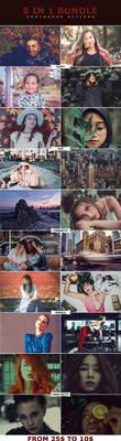 5 IN 1 Photoshop Actions Bundle by ViktorGjokaj