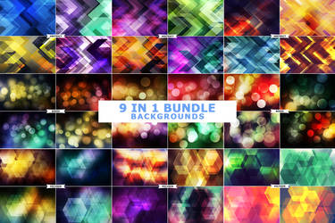 9IN 1 Background Textures Bundle by ViktorGjokaj