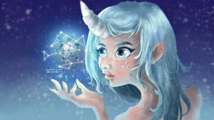 Unicorn Lady by Merilisle