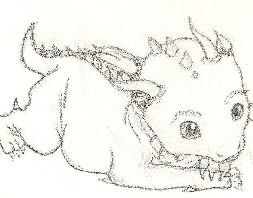 Baby dragon by mightykatara on deviantart for Cute hard drawings