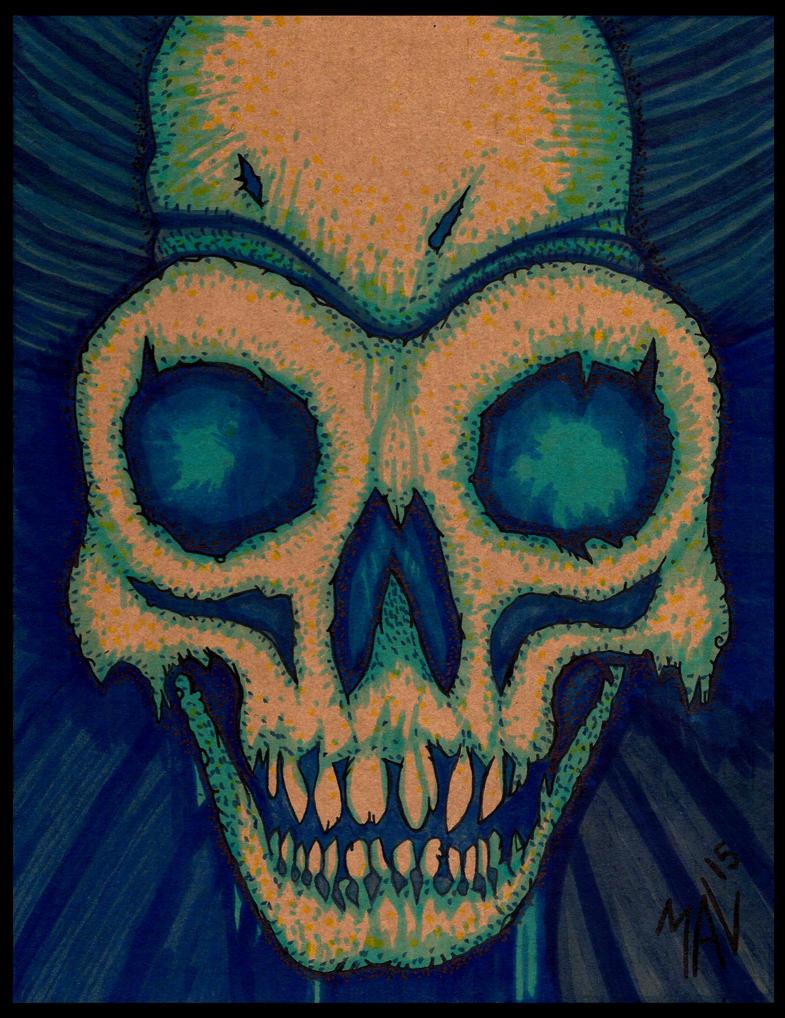 Cardboard Skull by OdditiesByErnie