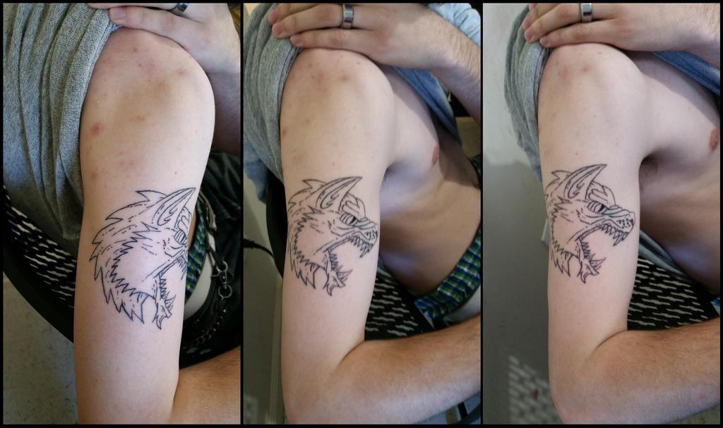 S Tattoo Session 1 by OdditiesByErnie
