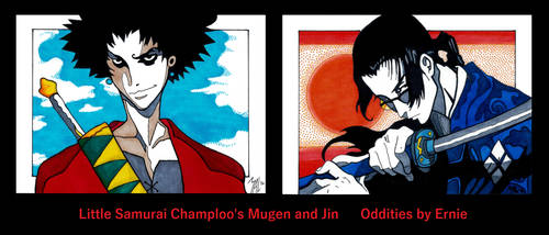 Little Samurai Champloo's Mugen and Jin by OdditiesByErnie