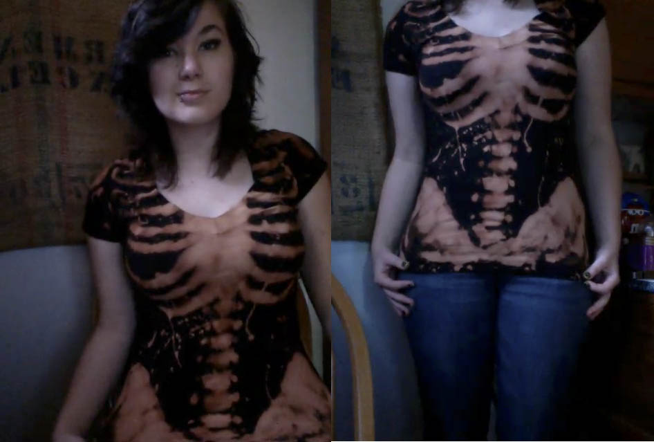 So, I made a skeleton shirt by sospook