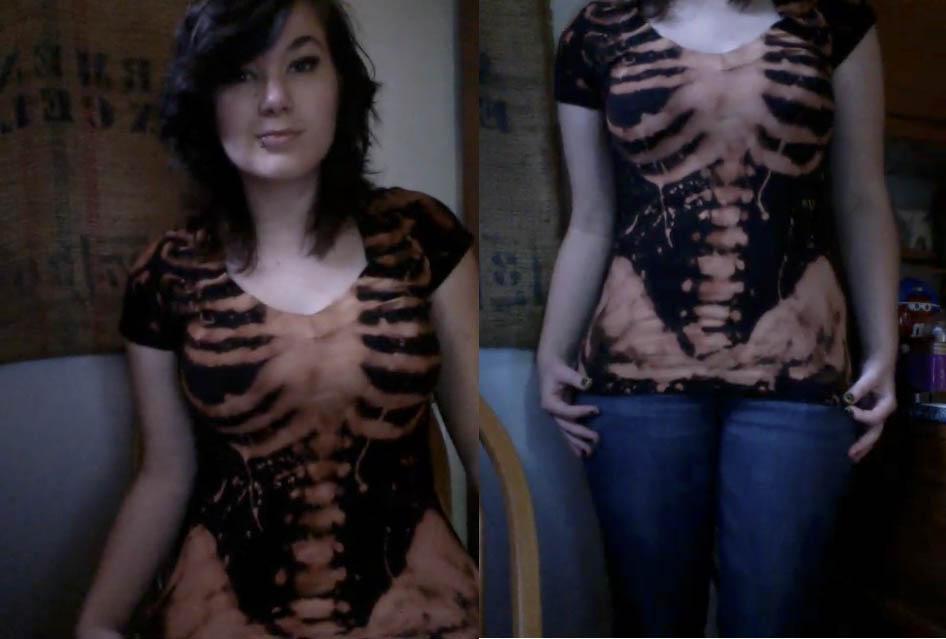 So, I made a skeleton shirt by sospook