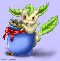 Colouring - Leafeon by Endivinity