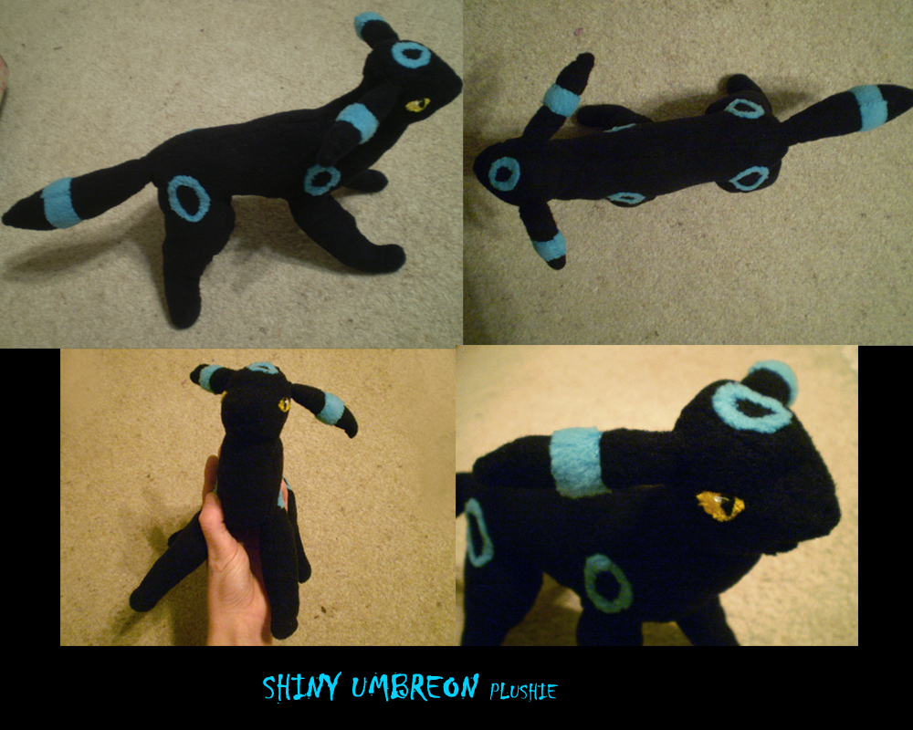 Shiny Umbreon Plushie by Silverbirch