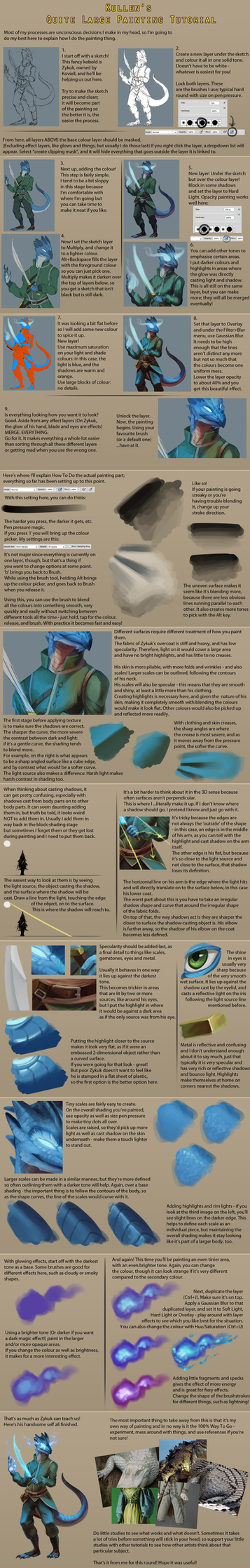 Quite Large Painting Tutorial by Endivinity