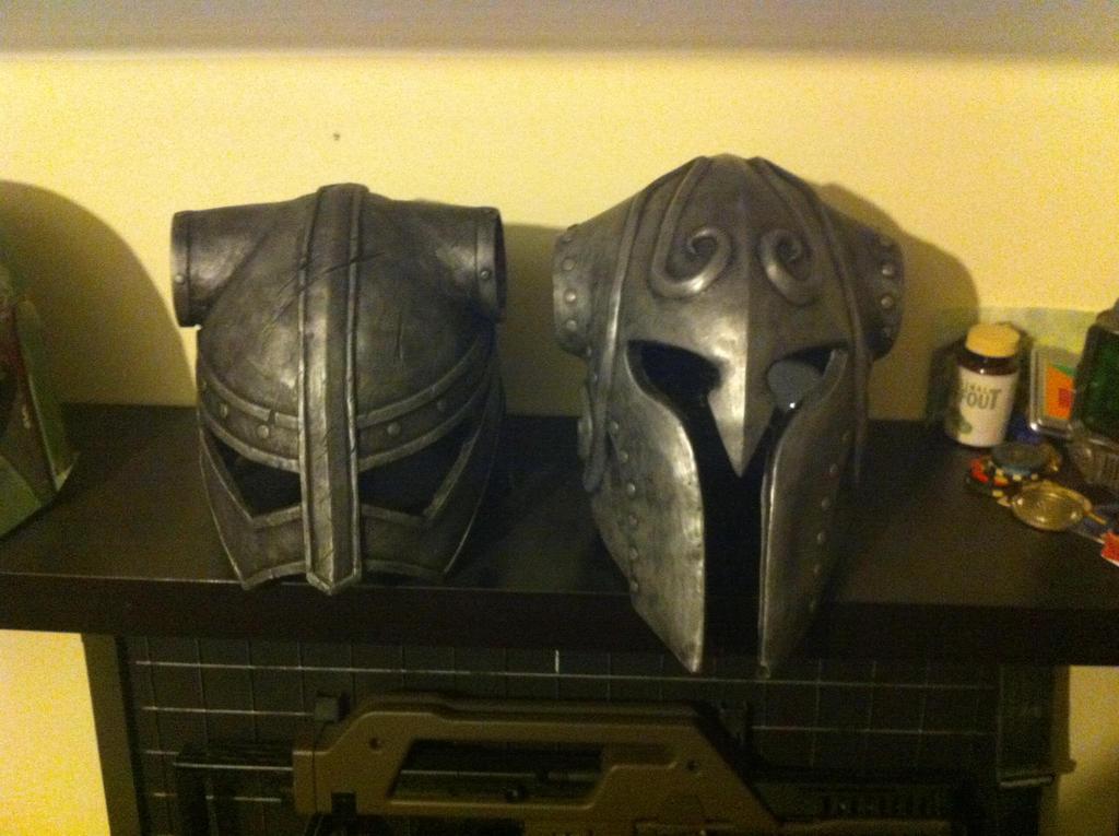 Skyrim Helmets awaiting horns