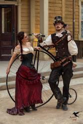 Steampunk Penny-Farthing or Large Wheel Bike