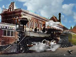 Union Depot circa 1880 Kansas City West Bottoms