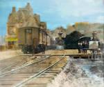 KC Union Depot 1880s w Passenger Platform