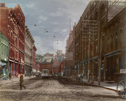Union Ave and Union Depot 1902