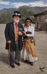 Steampunk Couple at High Chaparral by PhotosbyRaVen