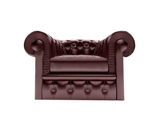 Chair-leather-brown by MichelleGotham