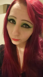 Poison Ivy Makeup 1st try