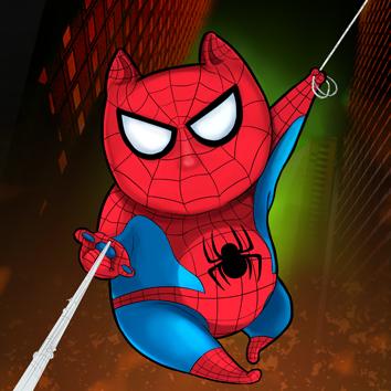 SuperHeroCat_Spiderman by KLohE-LeChat