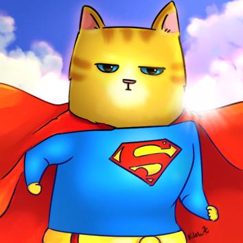 SuperHeroCat_Superman by KLohE-LeChat