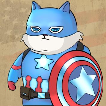 SuperHeroCat_Captain America by KLohE-LeChat