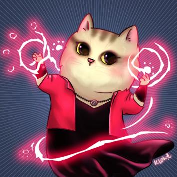 SuperHeroCat_Scatlet Witch by KLohE-LeChat