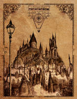 Hogwarts Illustration by I-never-stop