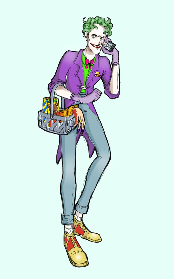 Joker at the grocery... by Tucks-Qwerty