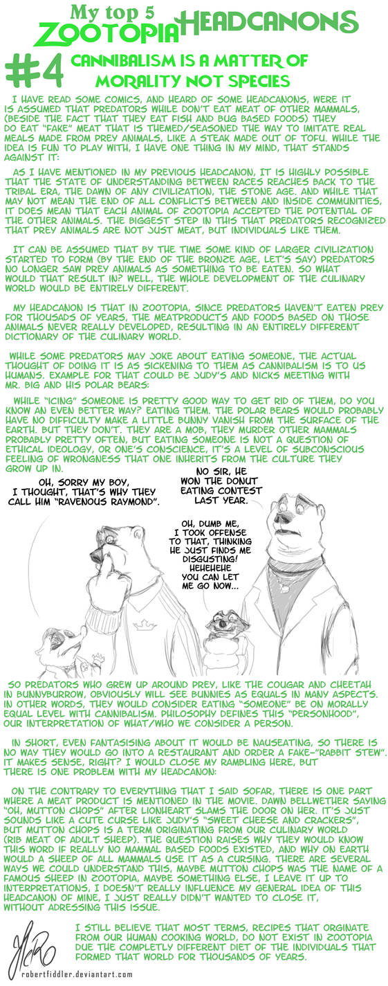 My Zootopia Headcanons - Number #4 by RobertFiddler on DeviantArt