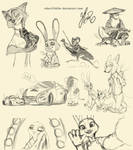 Zootopia Sketch Dump # 1