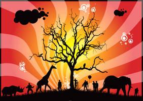 Wild Animals Vector by jrbamberg