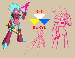 Steven Universe Original Gem 1: Red Beryl by Blazeingman