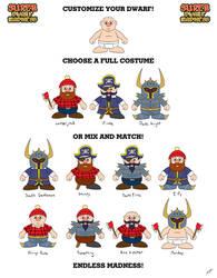 Customizable Dwarves by BluDrgn426