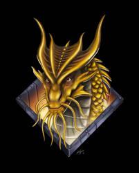 Gold Dragon by BluDrgn426