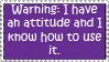 Attitude Stamp by jenepooh