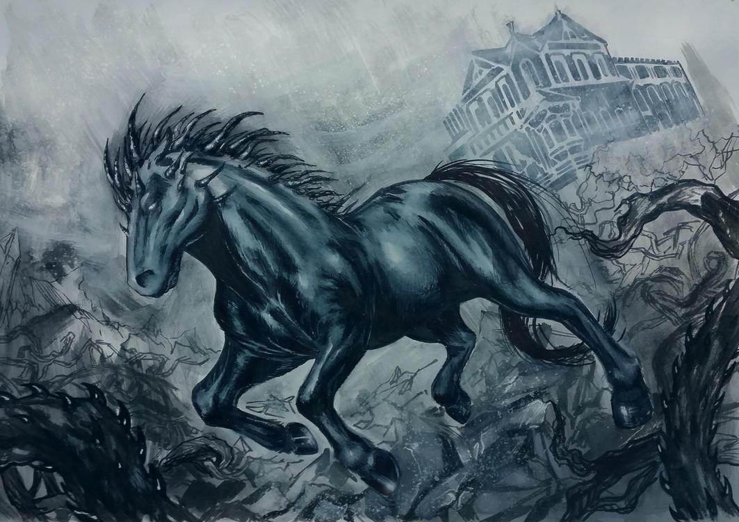 Dark fantasy horse by bella rachlin on deviantart dark fantasy horse by bella rachlin voltagebd Images