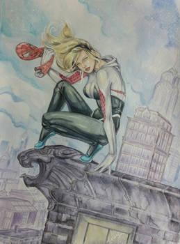Watercolor spider Gwen :)