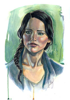 Katniss Everdeen in acrylics :)