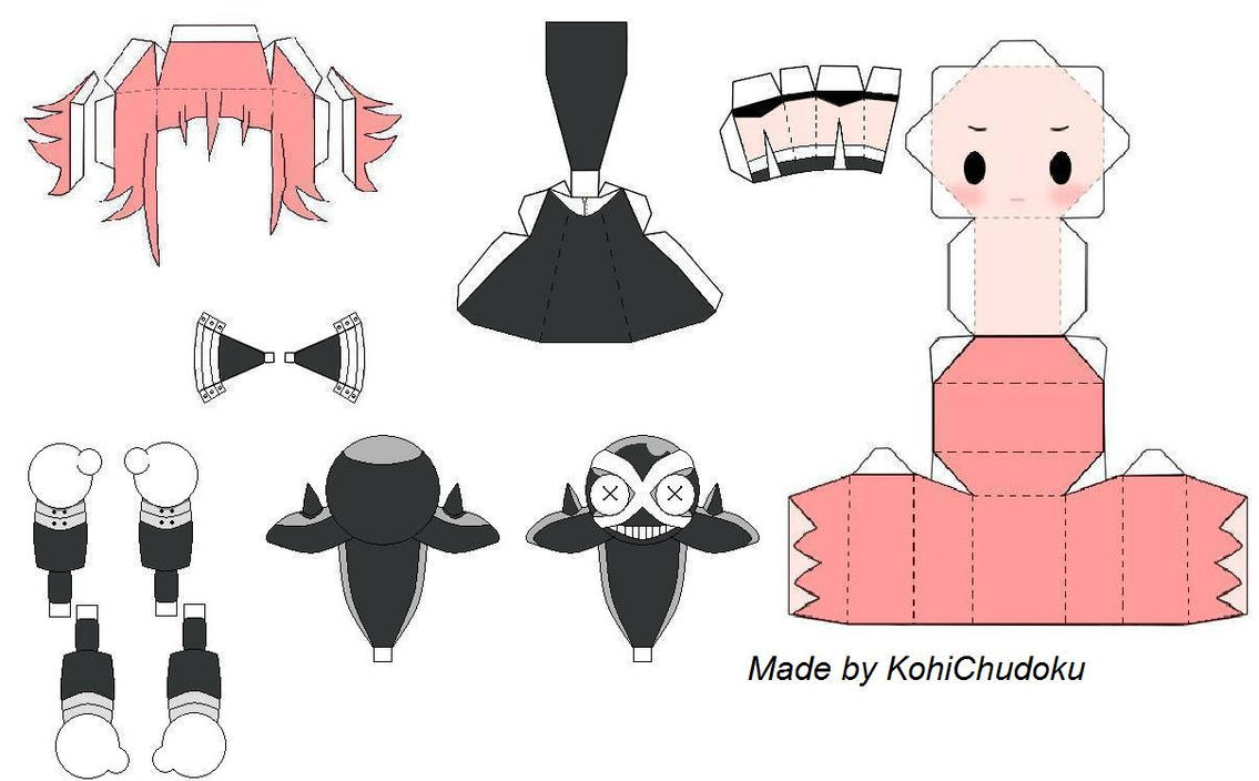 Crona Papercraft Template by KohiChudoku