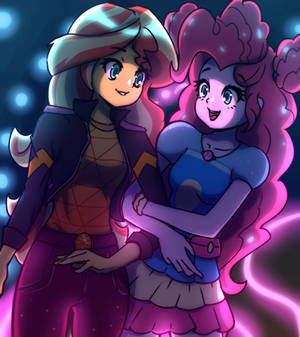 Sunset Shimmer and Pinkie Pie