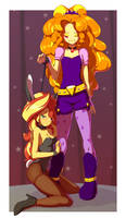 Adagio Dazzle and Sunset Shimmer