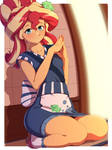 Sunset Shimmer sushi outfit by Rockset