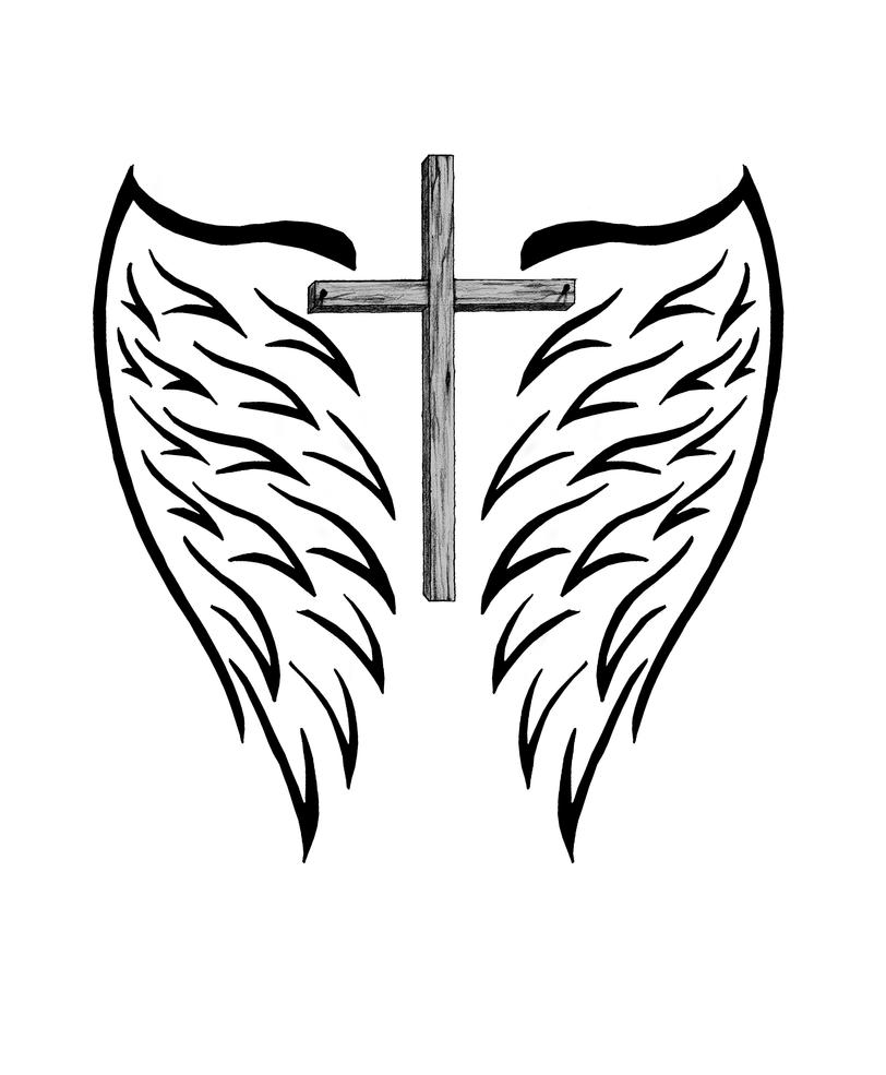 Cross with Wings by IsrafelX on DeviantArt
