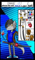 jeferson the wolf Reference Sheets (oc/fursona)