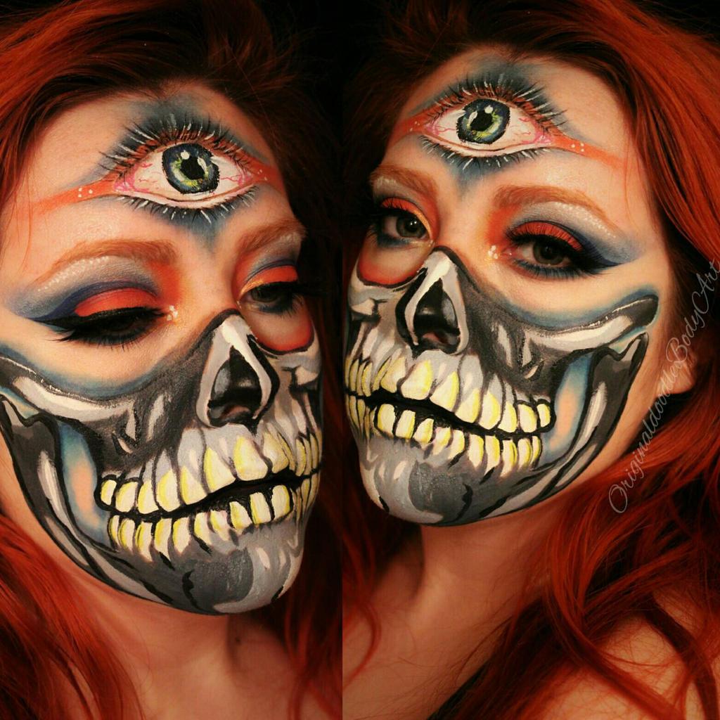 trippy skull paint by originaldoodlebody trippy skull paint by originaldoodlebody
