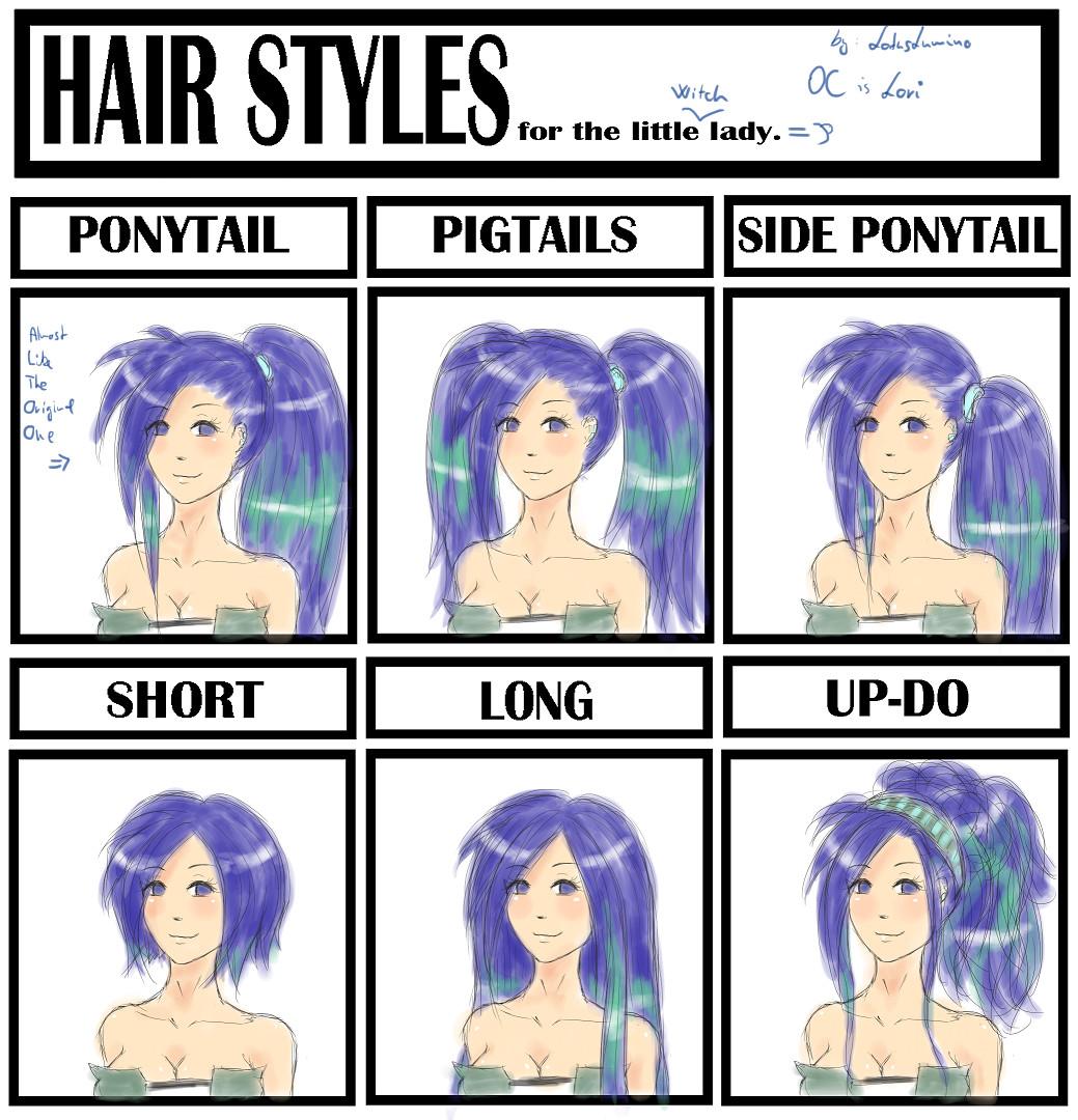 Hair Style Meme With Lori By LotusLumino On DeviantArt - Hairstyle drawing meme