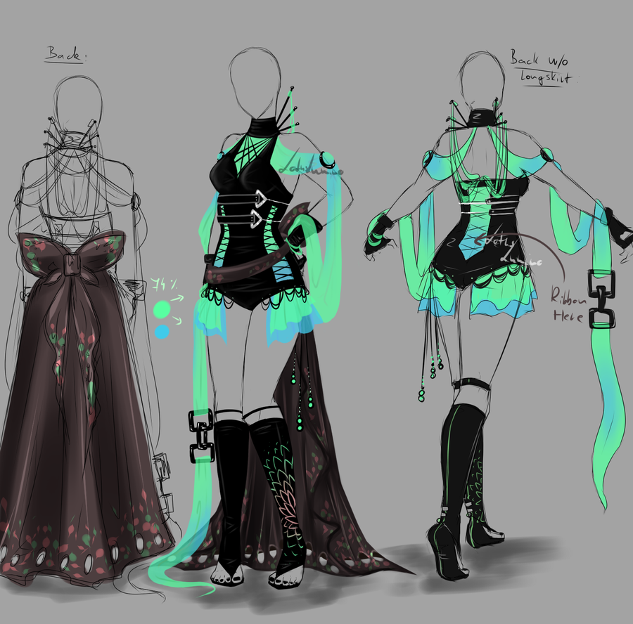 Character Costume Design Tips : Outfit design closed by lotuslumino on deviantart