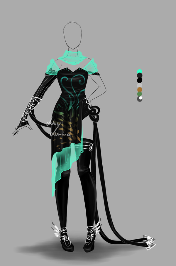 Outfit Design 160 Closed By Lotuslumino On Deviantart