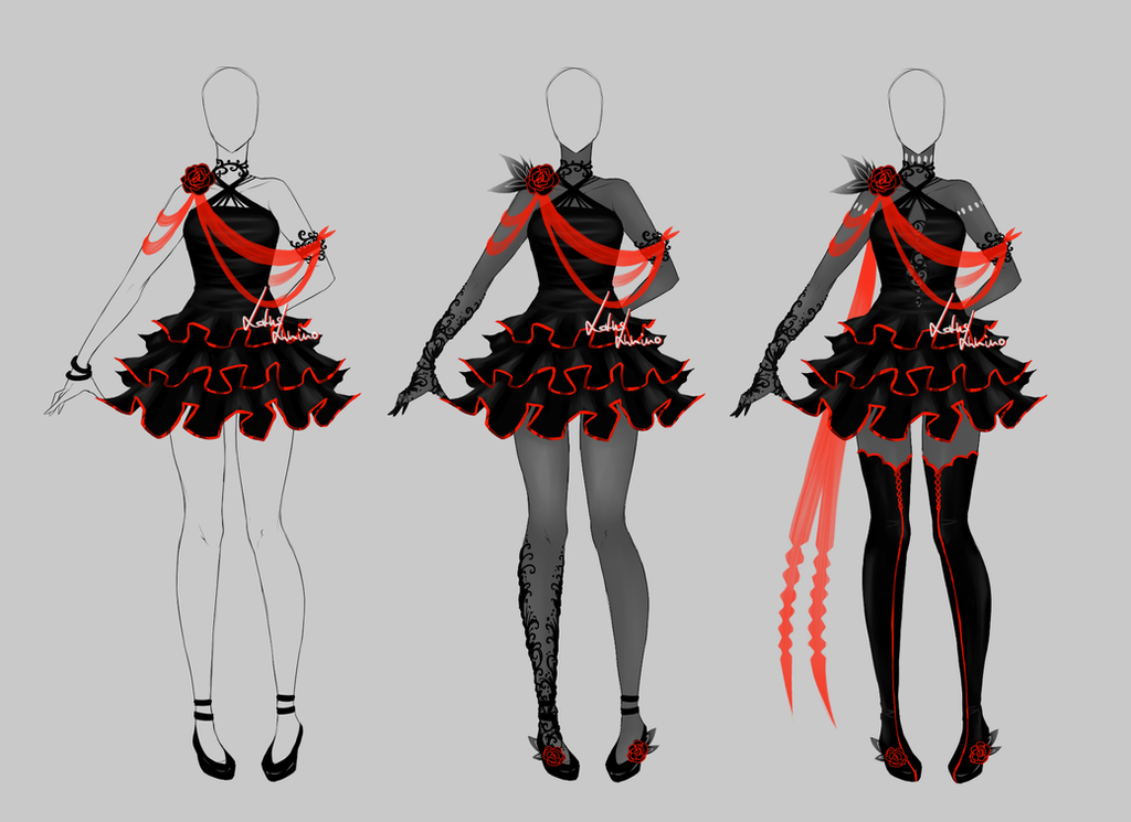 Outfit Design - 203 - Closed By LotusLumino On DeviantArt