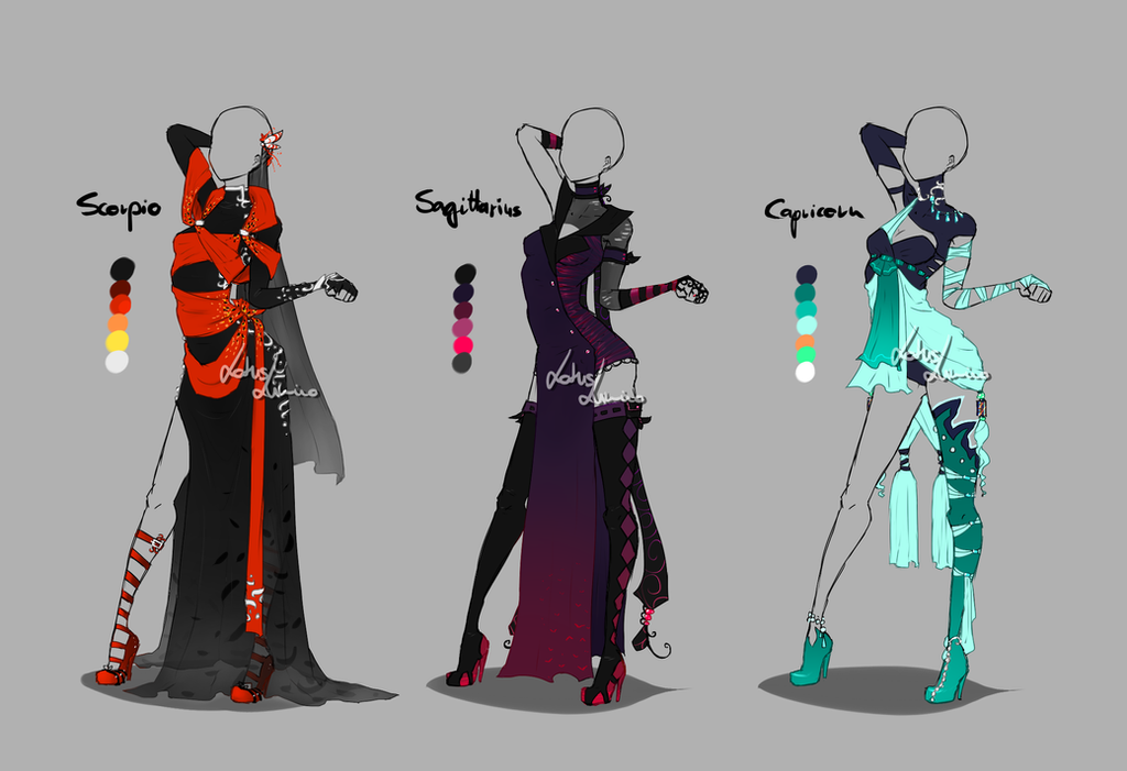 Outfit Design Zodiacs 4 Closed By Lotuslumino On Deviantart