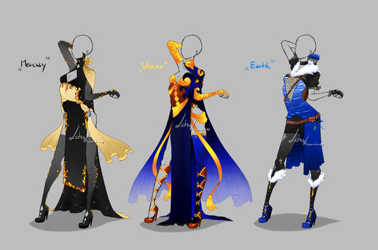 Outfit design - Planets 1 - closed