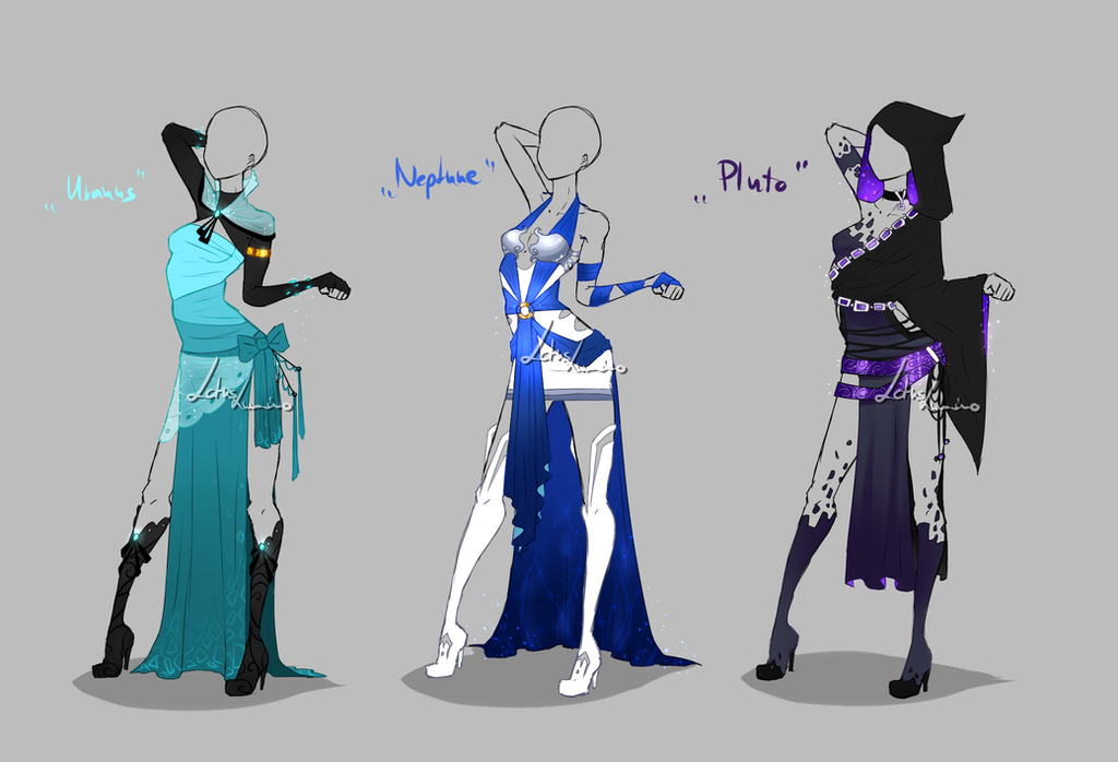Outfit design - Planets 3 - closed by LotusLumino